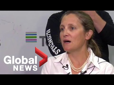 Canada's Foreign Affairs Minister Freeland Talks International Trade, Updates In Trade Agreements