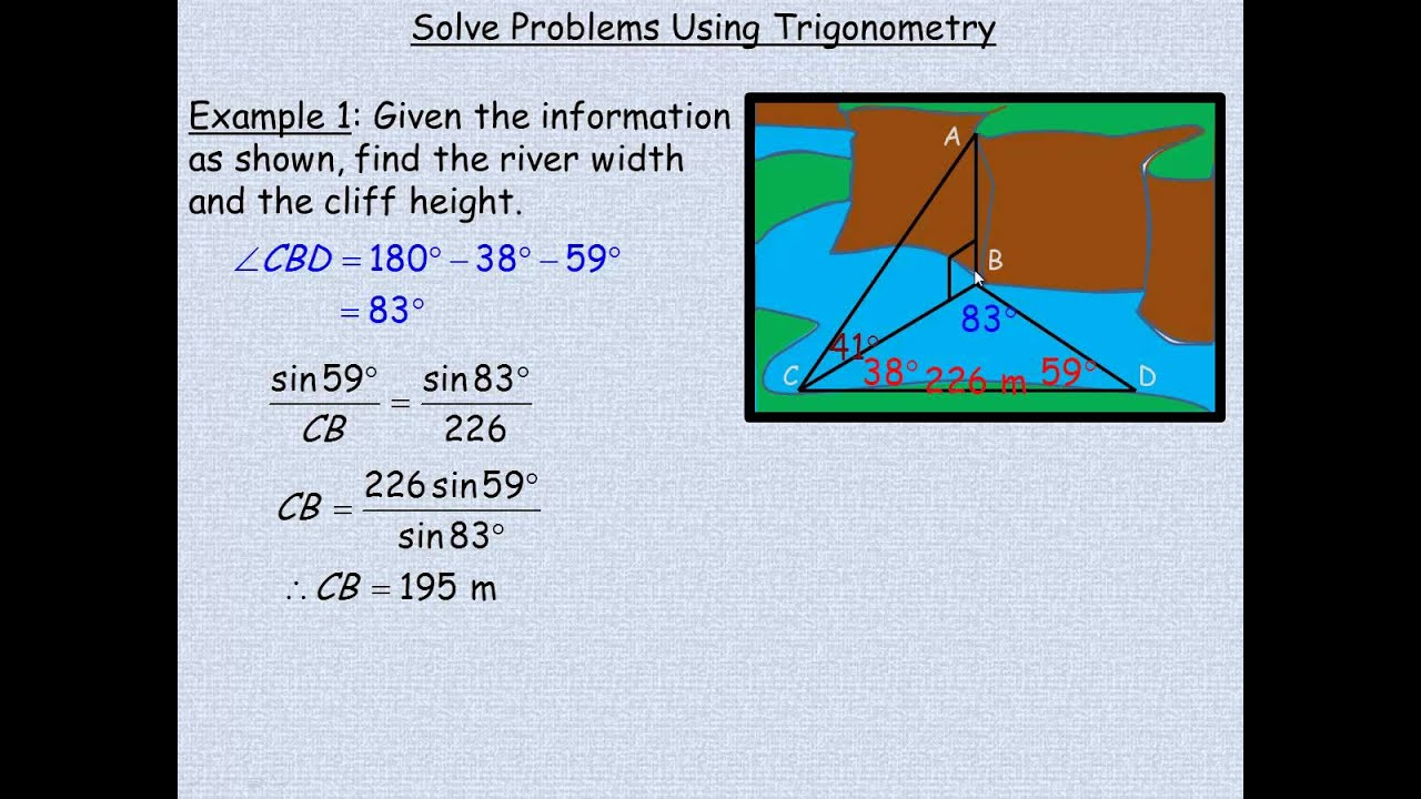 small resolution of Solve Problems Using Trigonometry - YouTube
