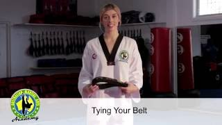 Instructor tip- How to tie your belt correctly