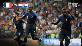 france goal v croatia - 2018 fifa world cup final