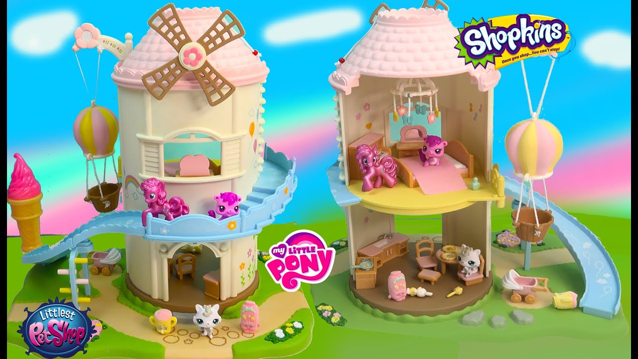 Calico Critters Mlp Pinkie Pie Shopkins Lps Baby Playhouse