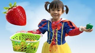 tro choi be di thu hoach va hoc ten rau cu qua  anan toysreview tv