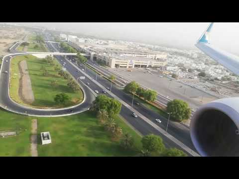 Oman air Boeing 737-800 JET landing at Muscat international airport
