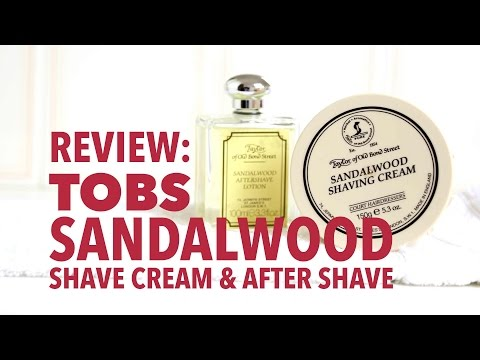 Taylor of Old Bond Street Sandalwood Shave Cream & After Shave Lotion - Review