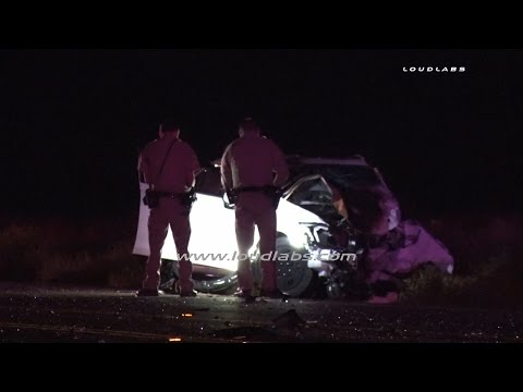 Head on Double Fatal Traffic Collision / Hesperia  RAW FOOTAGE