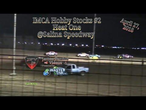 IMCA Hobby Stocks #2, Heat 1, Salina Speedway, 2018