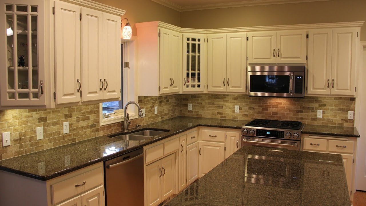 Granite Backsplash Ideas Part - 50: The Best Backsplash Ideas For Black Granite Countertops _ Home And Cabinet  Reviews - YouTube
