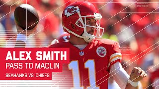 Alex Smith Scrambles & Finds Jeremy Maclin at the Goal Line | Seahawks vs. Chiefs | NFL