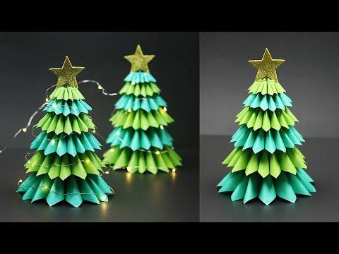 3D Tabletop Paper Christmas Tree | Christmas Tree Decorating Ideas | Christmas Decor