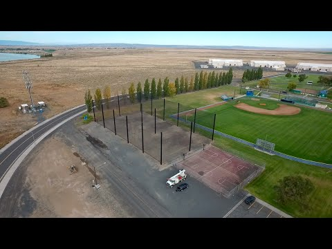 Golf Range Netting UAV drone enclosure at Big Bend Community College