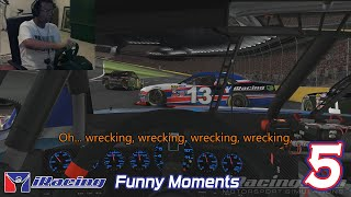 iRacing Funny Moments 5 - Open Wheel Racing to the Side of Some NASCAR!