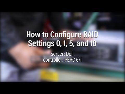 How to Configure RAID on a Dell using a PERC 6/i - YouTube