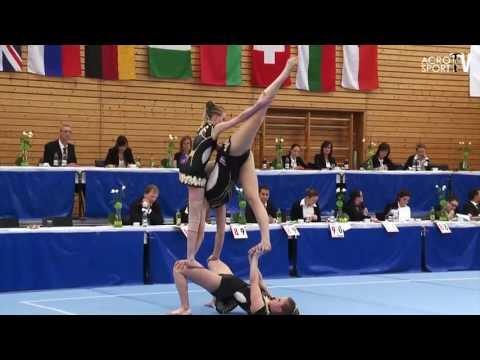 Acro Cup Albershausen 2013 WomensGroup Seniors Balance Netherlands van Beek van de Burgt Gijsbertse
