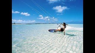 Kitesurfing with Airton Cozzolino in Fiji island