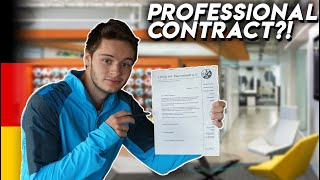 I got signed to a professional soccer team