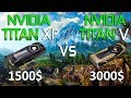TITAN V vs TITAN Xp Test in 7 Games 4K (i7 8700k)