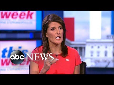 Nikki Haley says Trump, Tillerson 'work very well together'