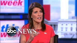 Nikki Haley says Trump, Tillerson work very well together