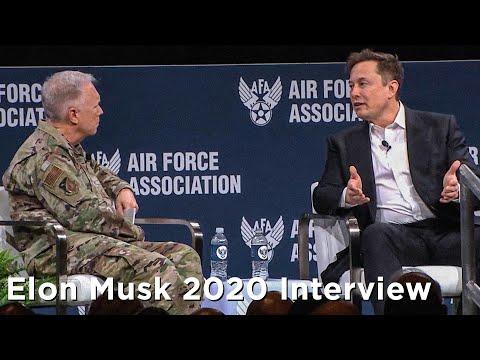 RAW Elon Musk Interview from Air Warfare Symposium 2020