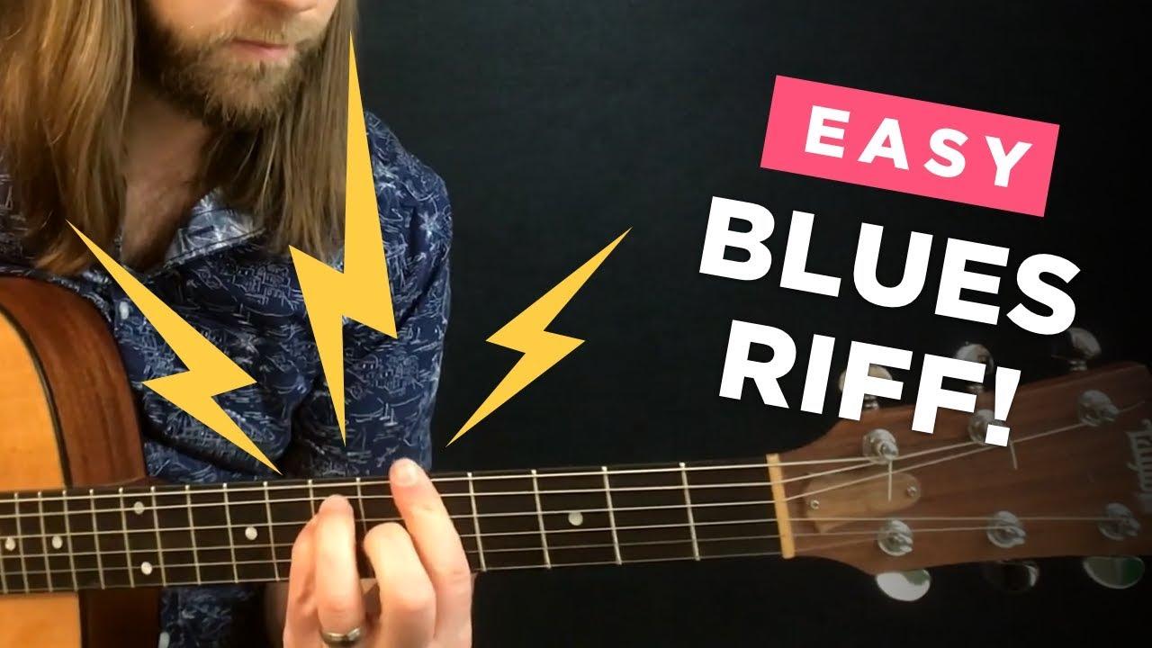 ⭐️ Easy beginner blues & country riff (Practice tip #12)
