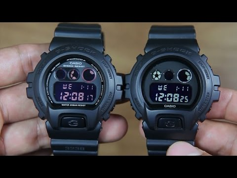 07154bb3077 CASIO G-SHOCK DW-6900MS-1   G-SHOCK DW-6900BB-1 SIDE BY SIDE - YouTube