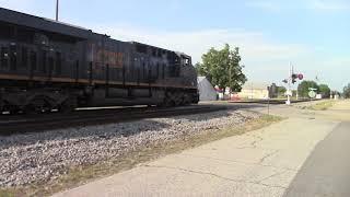 CSXT E320-27 ES44AH/AH44CW/AC44CW/ET44AH & ES44AH DP double barrel empty Coal Train 240 Cars