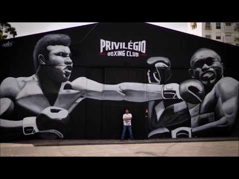 Muhammad Ali graffiti tribute wall painting by Nomen