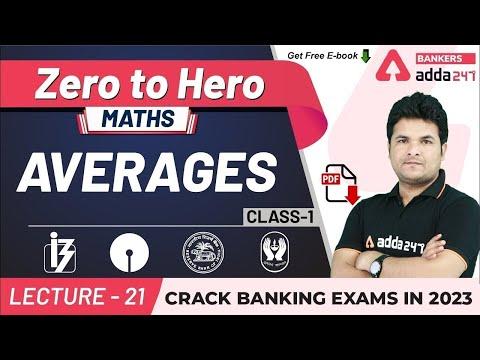 Average Problems Tricks and Shortcuts (Class-1) | Maths | Adda247 Banking Classes | Lec-21