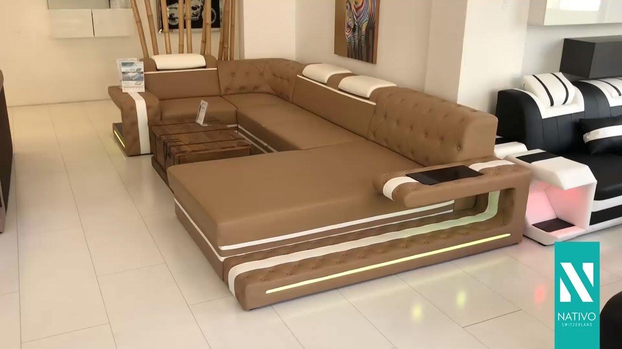NATIVO Möbel Schweiz   Designer Sofa IMPERIAL XL Mit LED Beleuchtung