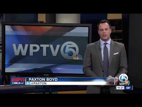 ESPN 106.3 sports anchor Paxton Boyd performs NFL Combine drills