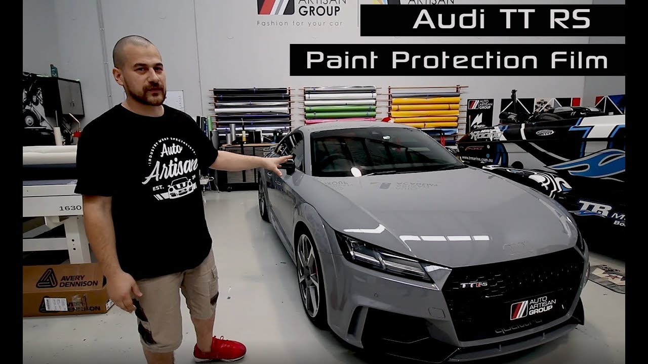 2018 Audi Tt Rs Nardo Grey Clear Paint Protection Film Installation What Is A Clear Bra