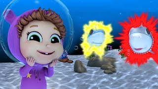 Baby Shark Dance Hiccups!   Baby Shark Spark   Learn Colors   Helping Friends
