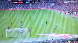 Andy Carroll Goal - Liverpool vs Everton FA Cup 2012