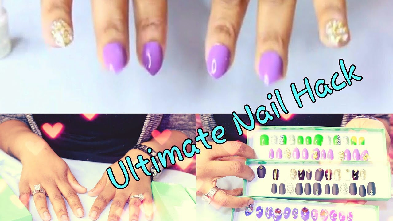 BEST DIY EASY Fake Nails That Last THREE WEEKS! (No Acrylic ...