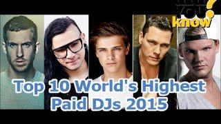Top 10  ★★ World's Highest Paid DJs 2016 ★★