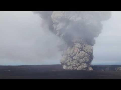 Massive ash event at Halemaumau Crater on summit of Kilauea Volcano