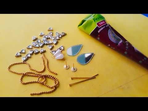 how-to-make-party-wear-earrings//at-home//diy//handmade-jeweller//hooriya-style