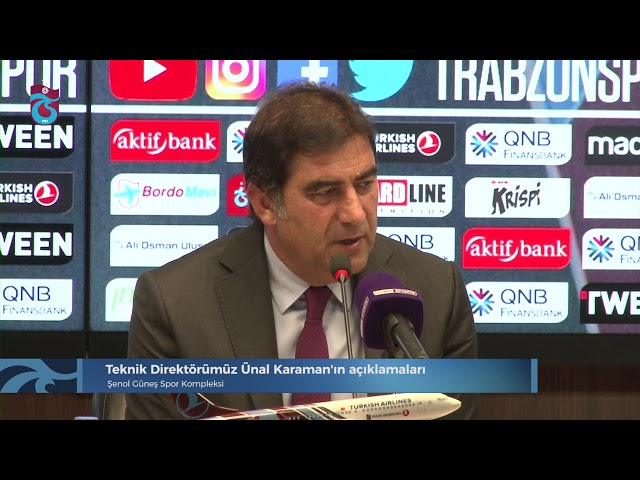 Teknik Direktörümüz Ünal Karaman'ın açıklamaları