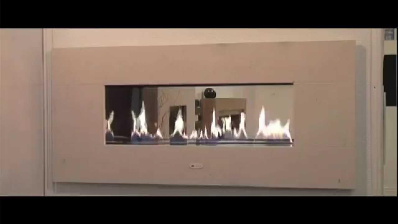 Camino Aperto Su Tre Lati fire ribbon bifacciale - caminetto a gas con canna fumaria aperto senza  vetro
