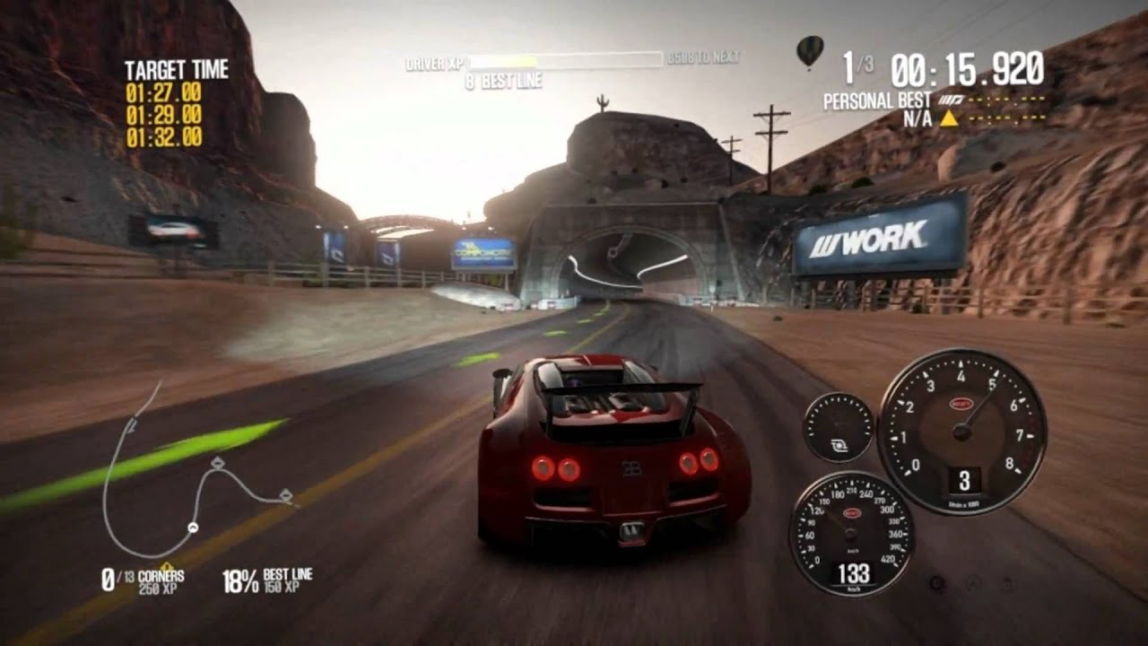 Need for speed shift 2 unleashed gameplay bugatti on hd 4890 youtube.