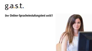 Der Online-Spracheinstufungstest onSET