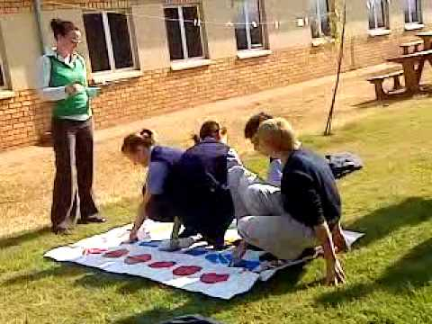 playing twister at school