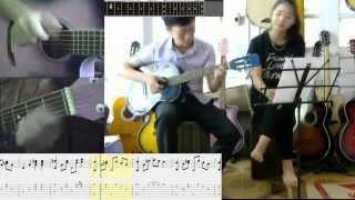BA KỂ CON NGHE (TONE NỮ) -HƯỚNG DẪN GUITAR CHI TIẾT  - COVER BY TRUNG KIÊN vs OANH PHẠM