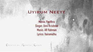 Uyirum Neeye Karaoke with English Lyrics