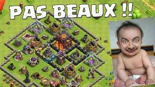 DES VILLAGES DÉGUEULASSES !! Clash of Clans