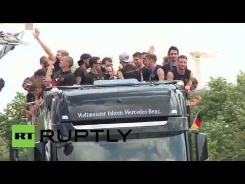 Germany: Berlin erupts as World Cup winners roll in