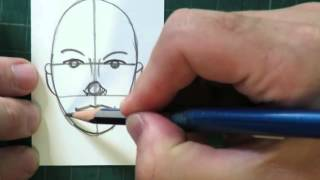 How to draw a face basic proportions - How to draw new