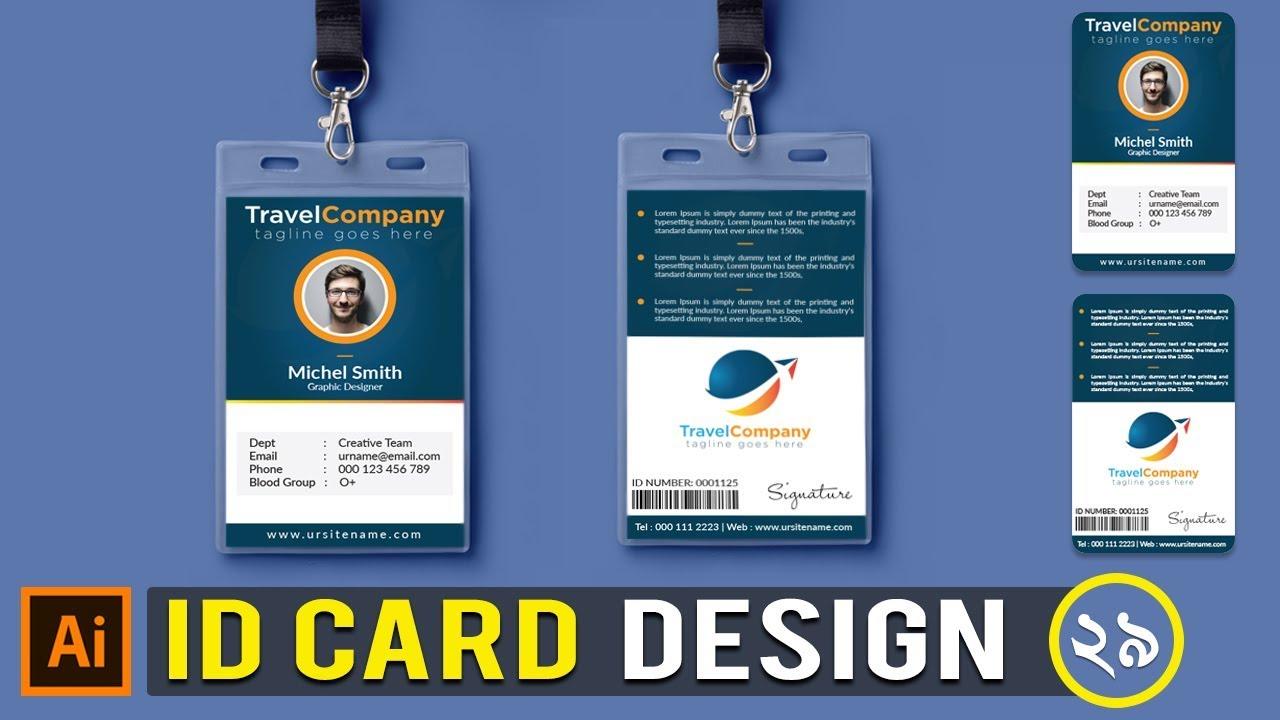 create a print ready corporate id card design in