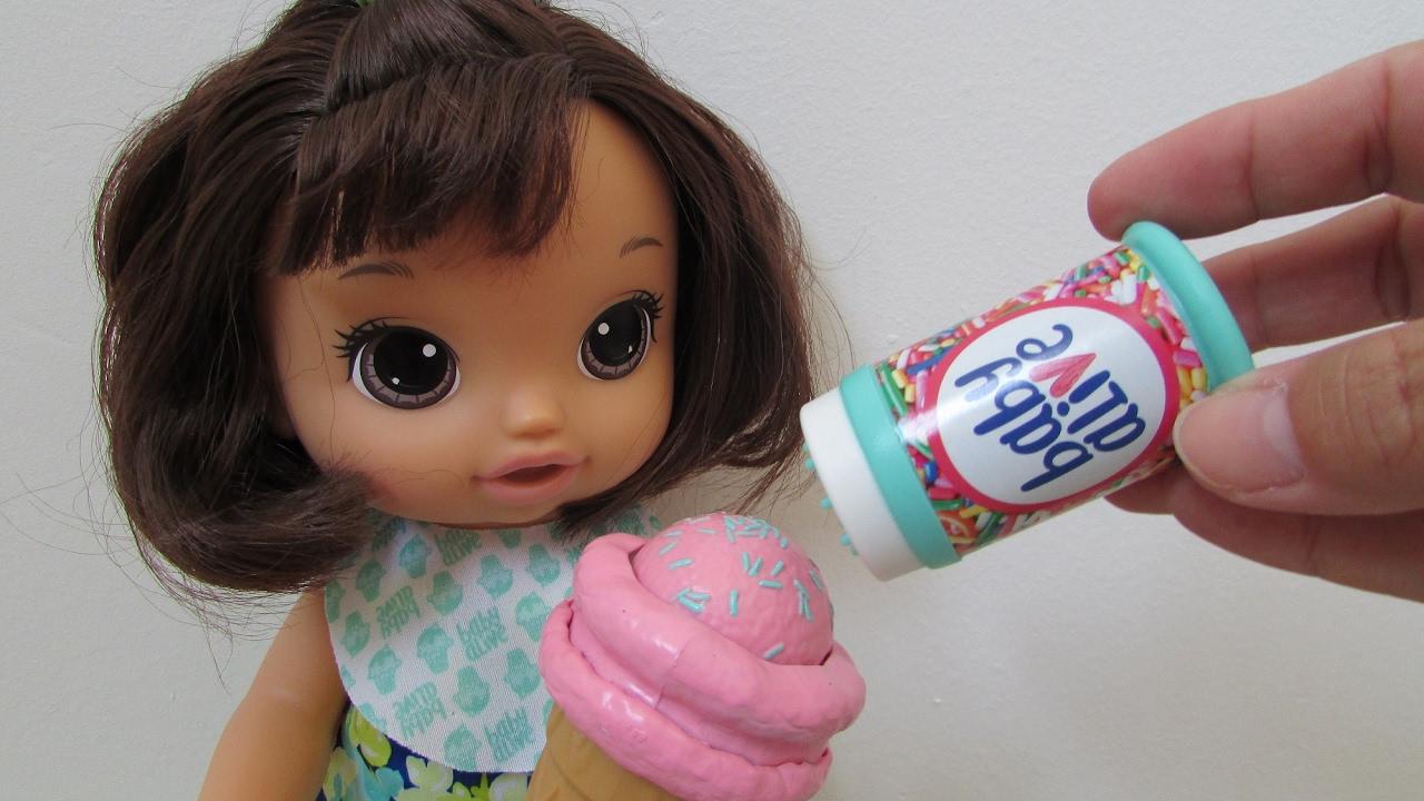 Nova Baby Alive Sobremesa M 193 Gica Magical Scoops Baby