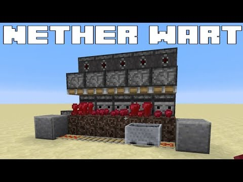Minecraft - Simple Automatic Nether Wart Farm - Fully AFKable - Tutorial